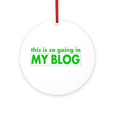 blog t-shirt Ornament (Round)