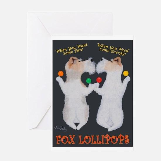 Fox Lollipops Greeting Card