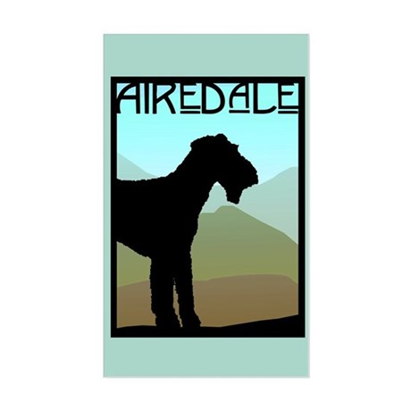 Craftsman Airedale Sticker (Rectangle)