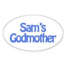 Sam's Godmother Oval Decal