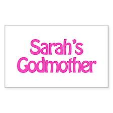 Sarah's Godmother Rectangle Decal
