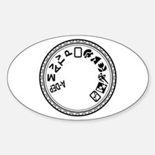 Mode Dial 4mil Vinyl Oval Decal