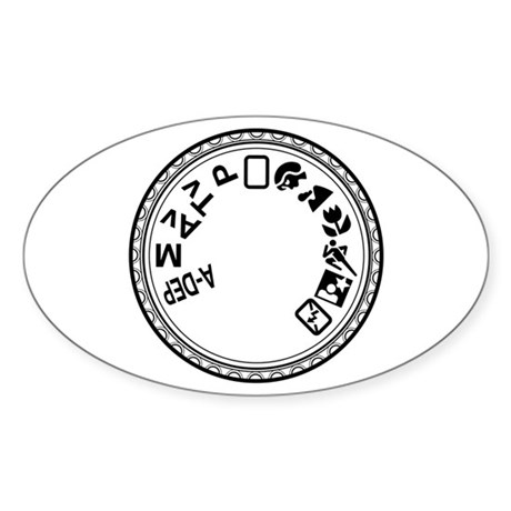 Mode Dial 4mil Vinyl Oval Sticker