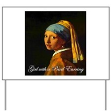 Girl with a Pearl Earring Yard Sign