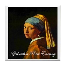 Girl with a Pearl Earring Tile Coaster