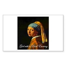 Girl with a Pearl Earring Rectangle Decal