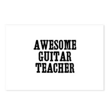 awesome guitar teacher Postcards (Package of 8)