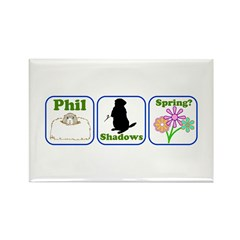 Phil, Shadows, Spring Rectangle Magnet (10 pack)