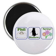 "Phil, Shadows, Spring 2.25"" Magnet (10 pack)"