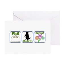 Phil, Shadows, Spring Greeting Card