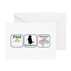 Phil, Shadows, Spring Greeting Card