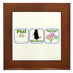 Phil, Shadows, Spring Framed Tile