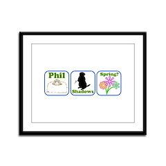 Phil, Shadows, Spring Framed Panel Print