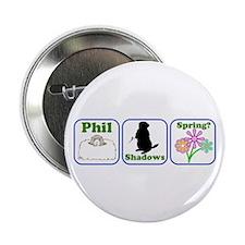 """Phil, Shadows, Spring 2.25"""" Button"""
