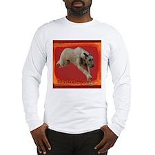 Irish Wolfhound running Long Sleeve T-Shirt