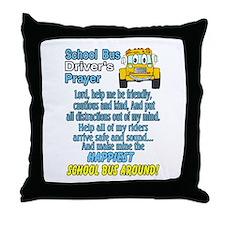 Cute Schoolbus Throw Pillow