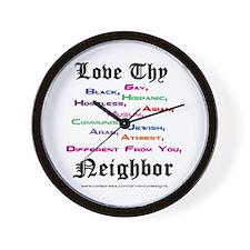 Love Thy Neighbor Wall Clock