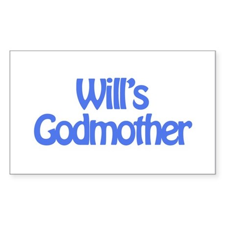 Will's Godmother Rectangle Sticker