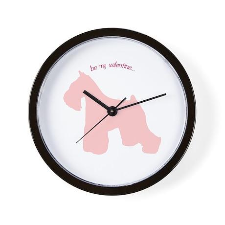 Schnauzer... Be My Valentine Wall Clock