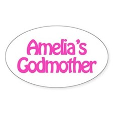 Amelia's Godmother Oval Decal