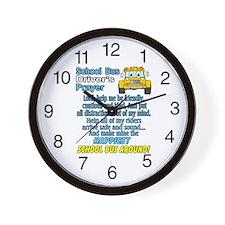 Funny Schoolbus Wall Clock