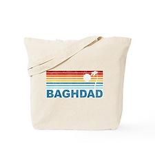 Retro Palm Tree Baghdad Tote Bag