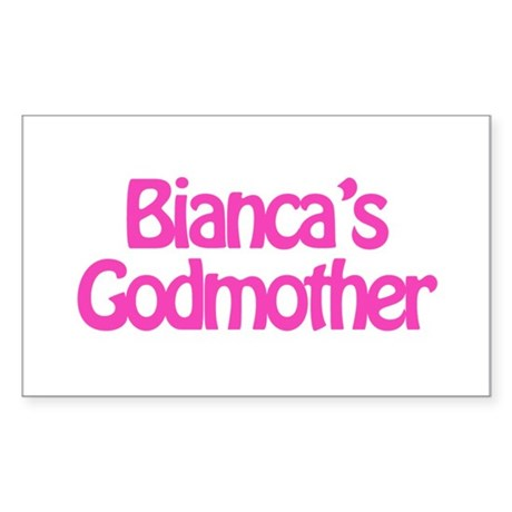Bianca's Godmother Rectangle Sticker