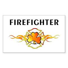 Irish Fire Sticker (Rectangular)