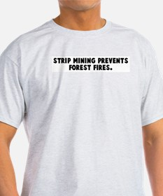 Strip mining prevents forest  T-Shirt
