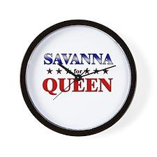 SAVANNA for queen Wall Clock