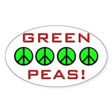 Green Peas, Green Peace Oval Decal