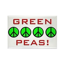 Green Peas, Green Peace Rectangle Magnet