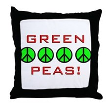 Green Peas, Green Peace Throw Pillow
