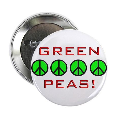 """Green Peas, Green Peace 2.25"""" Button"""