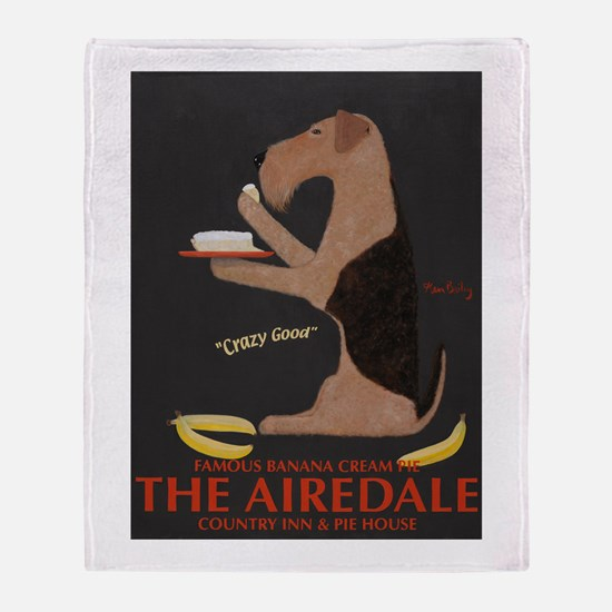 The Airedale Throw Blanket