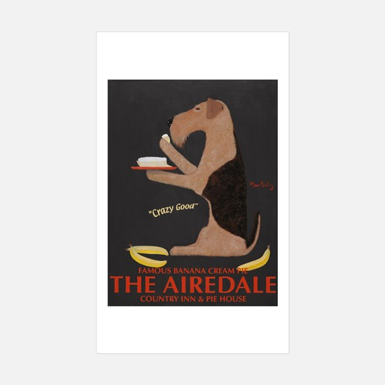 The Airedale Sticker (Rectangle 10 pk)