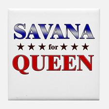 SAVANA for queen Tile Coaster