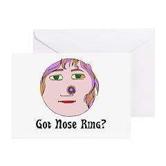 Nose Ring Greeting Card