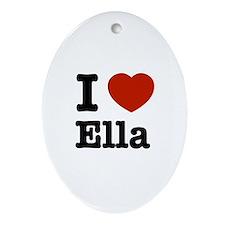 I love Ella Oval Ornament