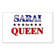 SARAI for queen Rectangle Decal