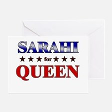SARAHI for queen Greeting Card