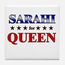 SARAHI for queen Tile Coaster