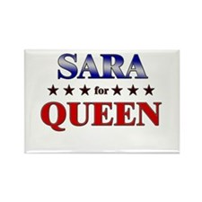SARA for queen Rectangle Magnet