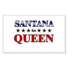 SANTANA for queen Rectangle Decal