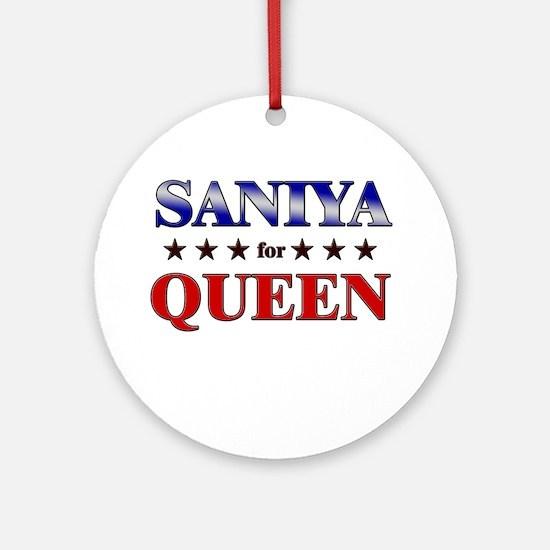 SANIYA for queen Ornament (Round)