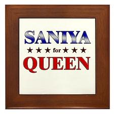 SANIYA for queen Framed Tile