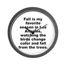 Cute David letterman quote Wall Clock