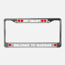 My Heart: Marquis (#006) License Plate Frame
