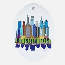 Philly New Icon Oval Ornament