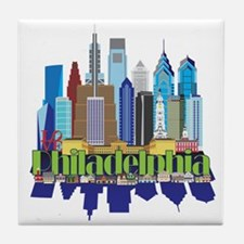 Philly New Icon Tile Coaster
